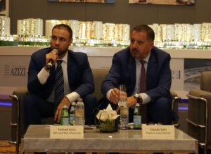 Farhad Azizi, CEO, Azizi Developments (left) and Claude Sakr, Regional Sales Director