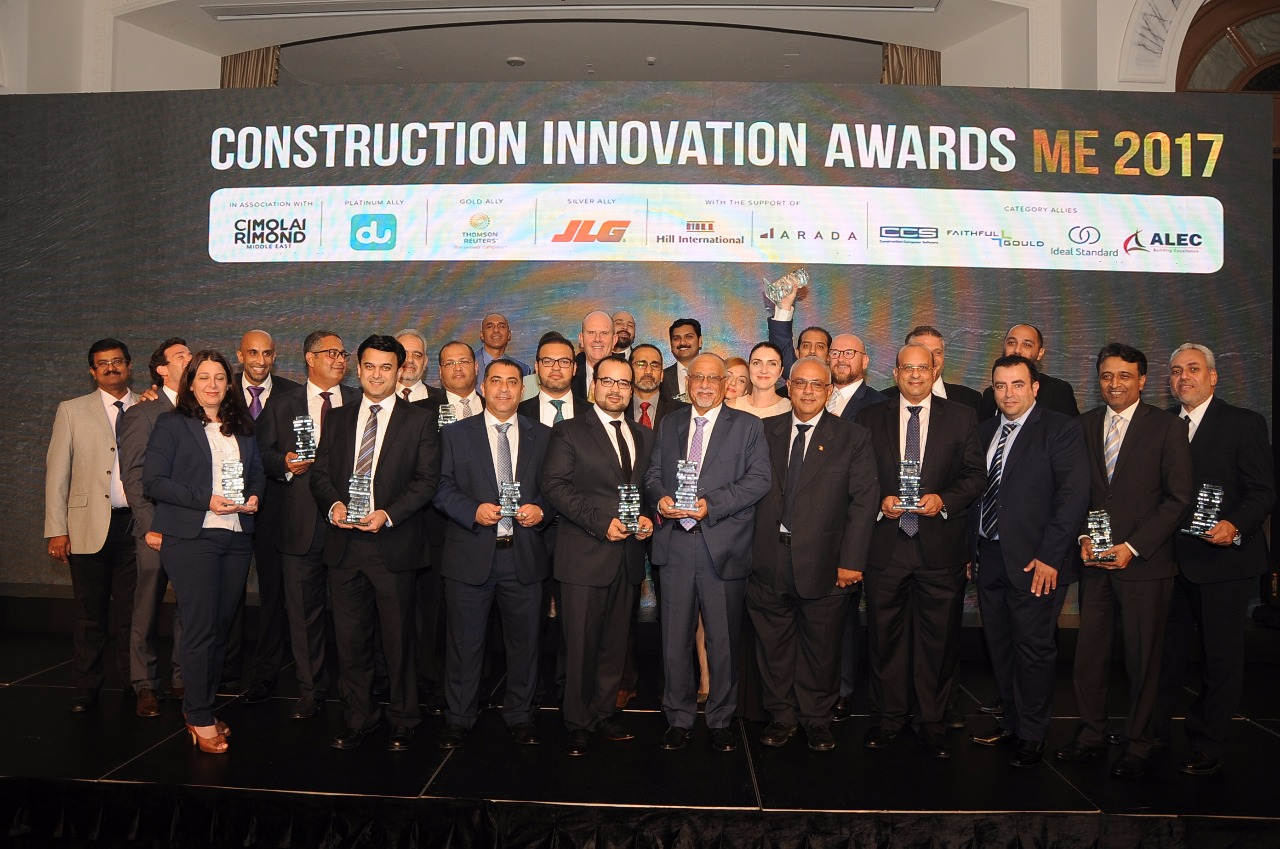 The winners at the Construction Innovation Awards 2018