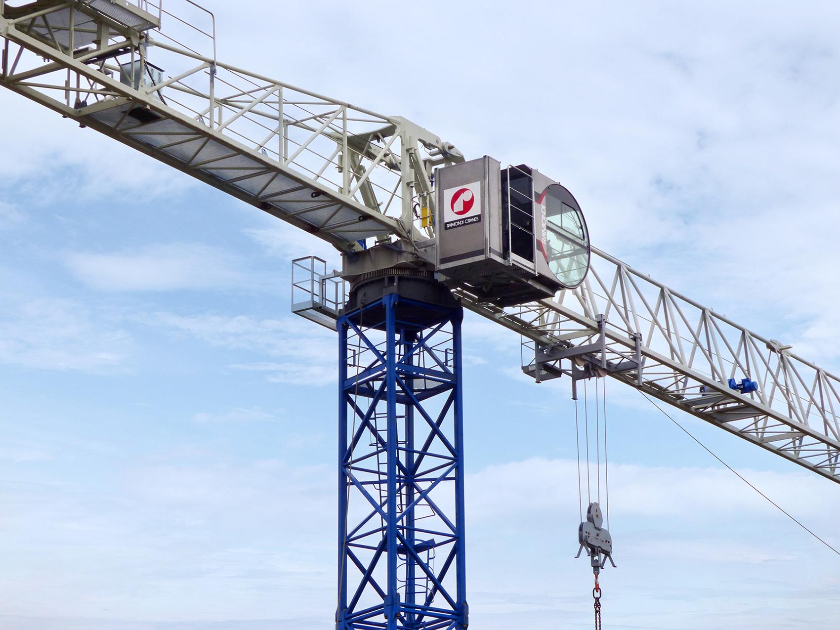 Tower Crane New Technology : Raimondi launches the mrt flattop tower crane