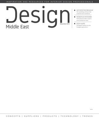 Design Middle East | December 2016