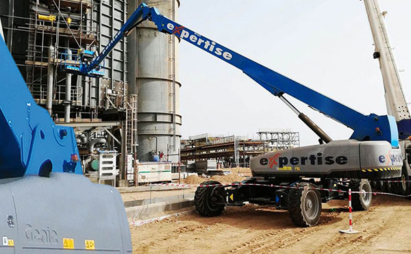 One of the 37 Genie units working at a plant in Saudi