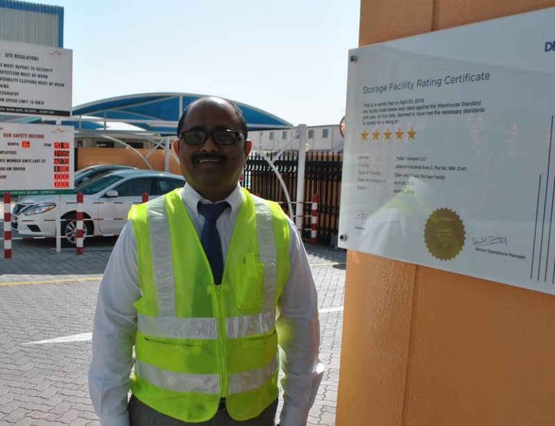 Tristar warehouses awarded 5-star rating by DMCC