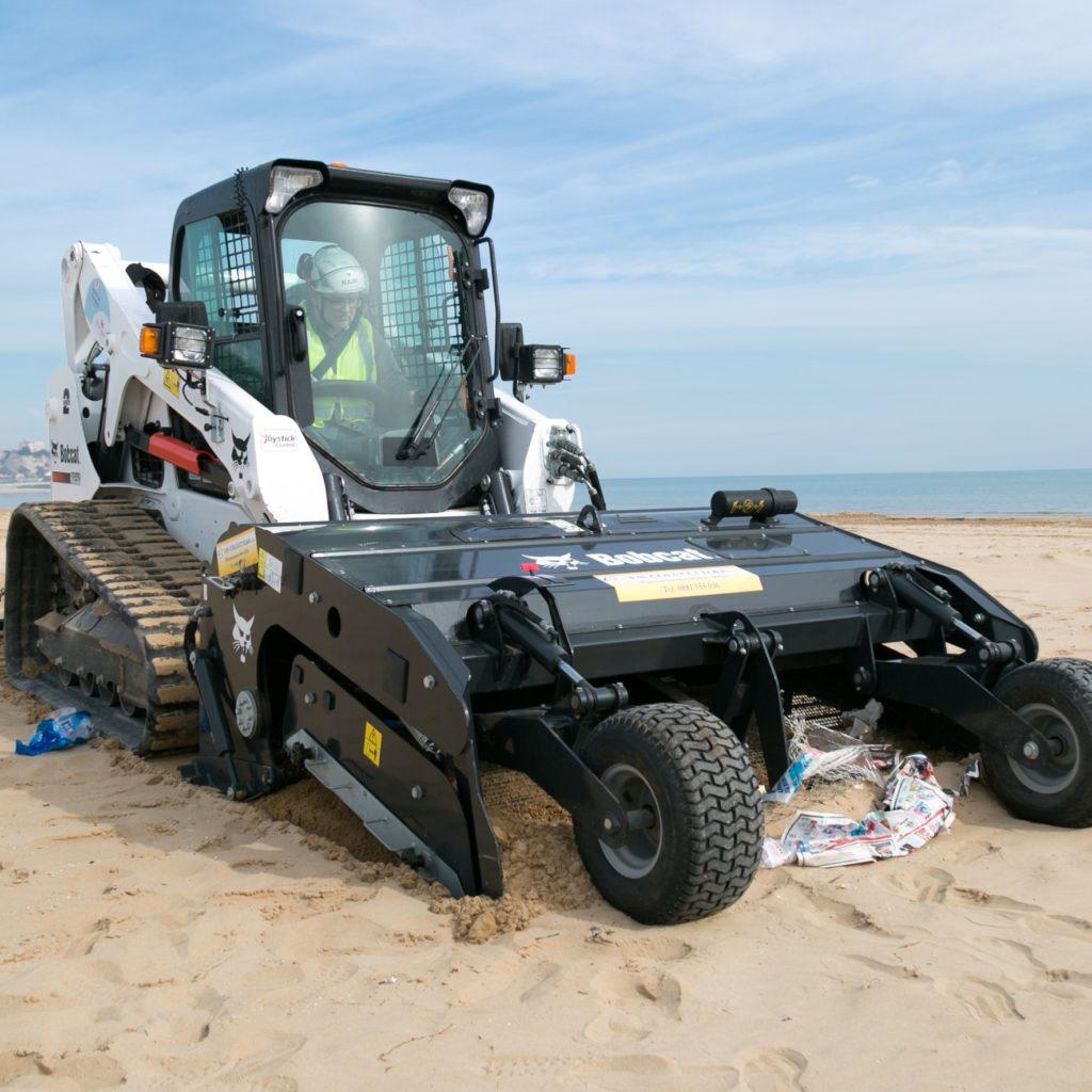 Bobcat Sand Cleaner Combats Plastic Peril on Beaches